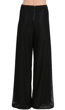 Alice + Olivia Super Flared Wide Leg Lace Pants - Lyst