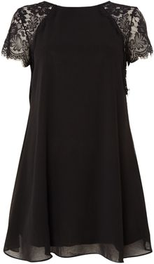 Tfnc Lace Shoulder Swing Dress - Lyst