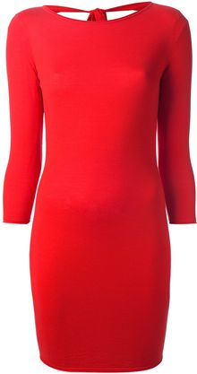 Alexander McQueen Open Back Bodycon Dress - Lyst