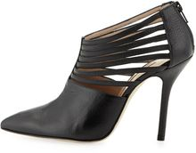 Oscar de la Renta Elisabeth Strappy Leather Bootie Black - Lyst
