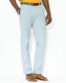Ralph Lauren Polo Flat Front Chino Pants Classic Fit - Lyst