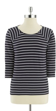 French Connection Striped Top - Lyst