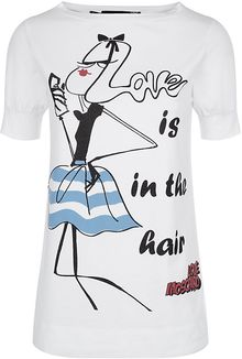 Love Moschino Love Is in The Hair Tshirt - Lyst