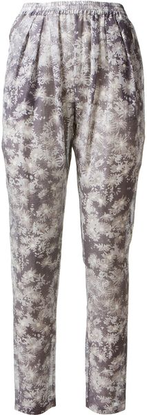 Stella McCartney Stella Mc Cartney Cotton and Silk Flowers Printed Pant - Lyst