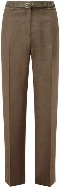 Cc Belt Linen Trousers Regular - Lyst