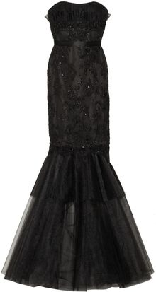 Notte By Marchesa Embellished Lace and Tulle Gown - Lyst