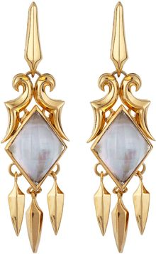 Stephen Webster Gold Doublet Dangle Earrings - Lyst