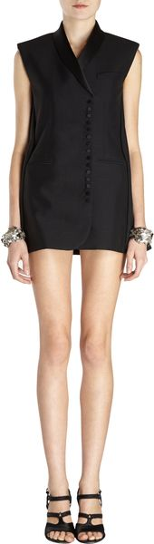 Balenciaga Sleeveless Jacket Dress - Lyst
