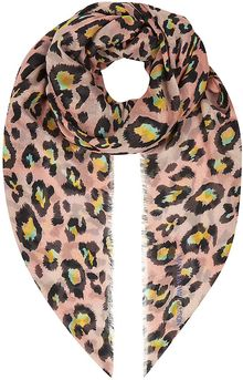 Matthew Williamson Leopard Spot Oversized Scarf - Lyst