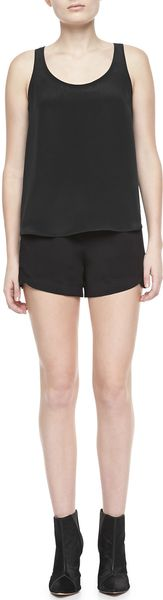 Theory Kaelin Silk Shorts - Lyst