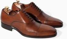 Zara Limited Edition Leather Oxford Shoe - Lyst