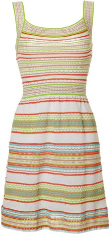 M Missoni Striped Knit Dress - Lyst