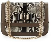 Christian Louboutin Sweet Charity Python Shoulder Bag - Lyst