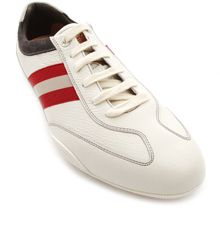 Bally Zibler White Leather Sneakers - Lyst