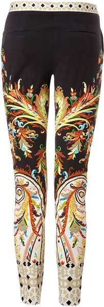 Etro Stretch Cotton Printed Pants - Lyst