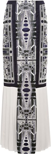 Mary Katrantzou Recta Lace Skirt - Lyst