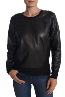 Helmut Lang Leather Combo Top - Lyst