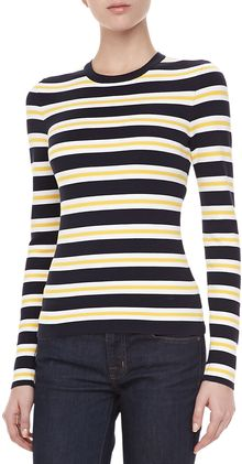 Michael Kors Longsleeve Striped Knit Top - Lyst
