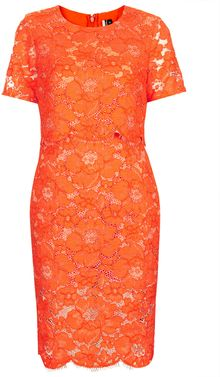 Topshop Premium Lace Pencil Dress - Lyst