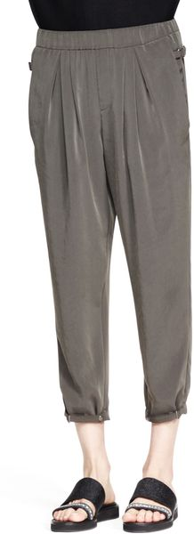 Helmut Lang Terra Pleated Cropped Pants - Lyst