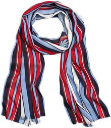 Brooks Brothers Light Blue Red and White Nautical Stripe Cotton Scarf - Lyst