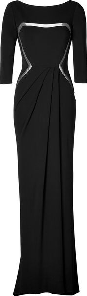 Elie Saab Sheer Panel Evening Gown - Lyst
