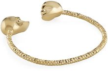 Alexander McQueen Twin Skull Bangle - Lyst