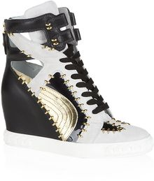 Casadei Snapdragon Leather Sneaker - Lyst