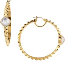 Stephen Webster Studded Crystal Haze Hoop Earrings - Lyst