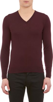 Ralph Lauren Black Label Vneck Pullover Sweater - Lyst
