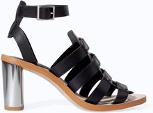 Zara High Heel Sandal with Buckles On Instep - Lyst
