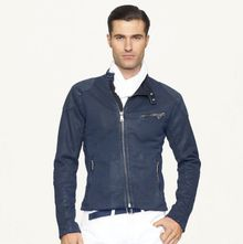 Ralph Lauren Black Label Fleece Biker Jacket - Lyst