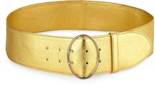 Prada Wide Metallic Leather Belt - Lyst