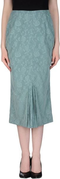 John Galliano 34 Length Skirt - Lyst