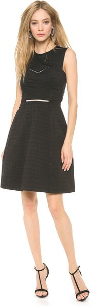 Yigal Azrouel Stretch Black Python Dress - Lyst
