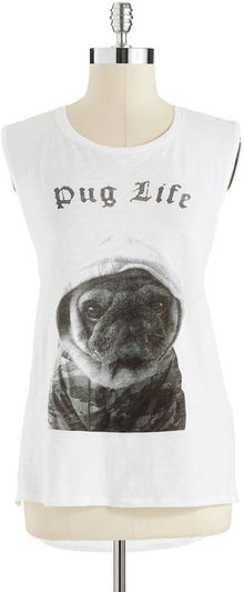 French Connection Pug Life Tank - Lyst