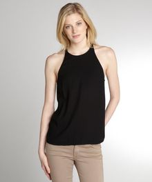 A.L.C. Black Silk Rossi Criss Cross Back Tank - Lyst