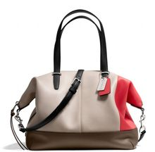 Coach Bleecker Cooper Satchel in Colorblock Leather - Lyst