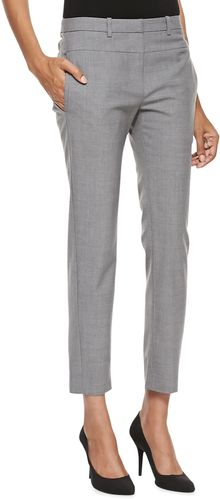 Halston Heritage Skinny Tailored Ankle Pants Heather Gray - Lyst