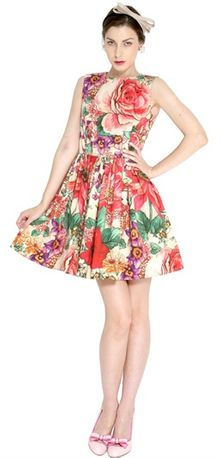 RED Valentino Floral Cotton Poplin Dress - Lyst