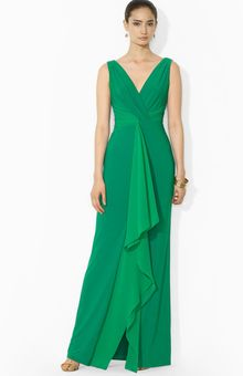 Ralph Lauren Lauren Gown V Neck Sleeveless - Lyst