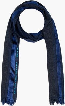 Diesel Metallic Blue Striped Sartek Scarf - Lyst