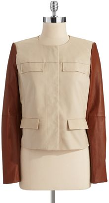 Michael by Michael Kors Mixed Media Jacket - Lyst