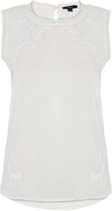 Therapy Embroidered Sleeveless Top - Lyst
