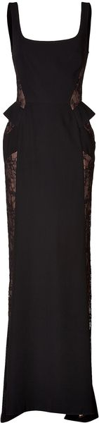 Elie Saab Lace Side Evening Gown - Lyst