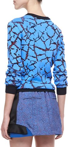 Opening Ceremony Crackled Jacquard Crew Sweater - Lyst