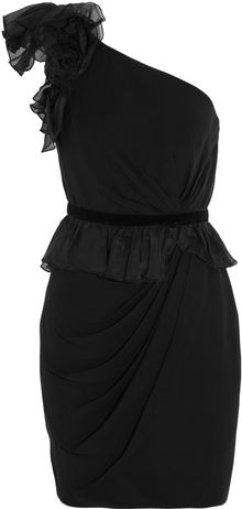 Notte By Marchesa Oneshoulder Chiffon Peplum Dress - Lyst