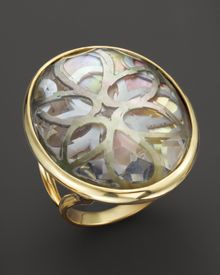 Ippolita 18k Gold Polished Rock Candy Oval Cutout Ring in Sabbia - Lyst