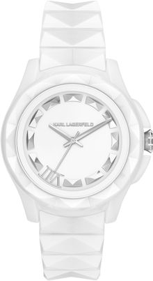 Karl Lagerfeld Unisex Karl 7 White Ceramic Bracelet Watch 44mm - Lyst