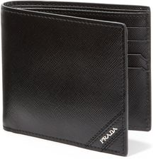 Prada Leather Bifold Wallet - Lyst